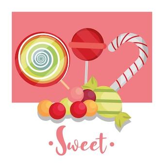 Affiche de bonbons sucrés