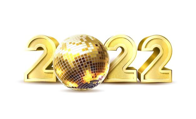 Affiche de boule disco fête du nouvel an vecteur 2020