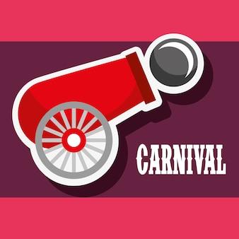 Affiche de boulet de canon festival de foire de carnaval
