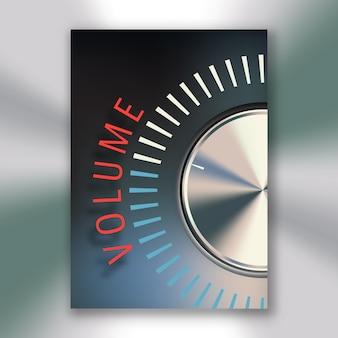 Affiche de bouton de volume
