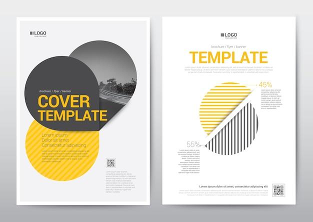 Affiche de brochure de modèle de disposition, brochure, rapport annuel.