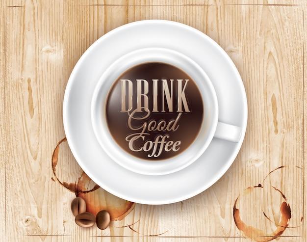 Affiche café bois