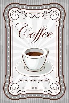 Affiche de café vintage.