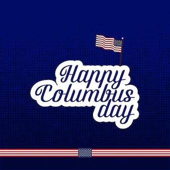 Affiche de la calligraphie de columbus day.
