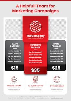 Affiche de la campagne marketing a4 modèle 1 en rouge