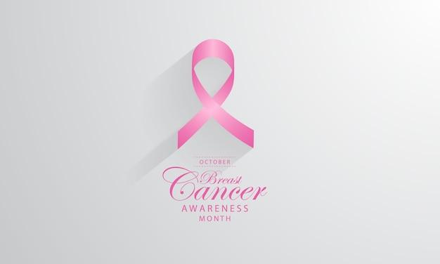 Affiche de cancer du sein vector background design