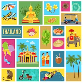 Affiche carrelée de thaïlande