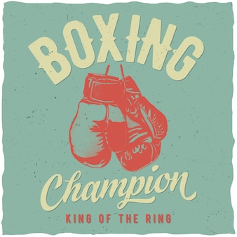 Affiche de champion de boxe