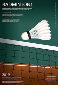 Affiche de championnat de badminton