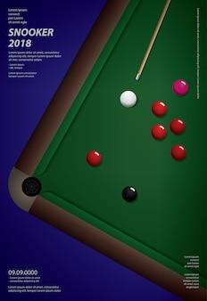 Affiche de championnat de billard