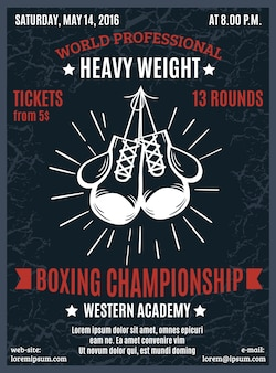Affiche de championnat professionnel de boxe