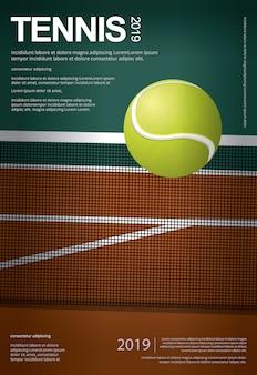 Affiche de championnat de tennis