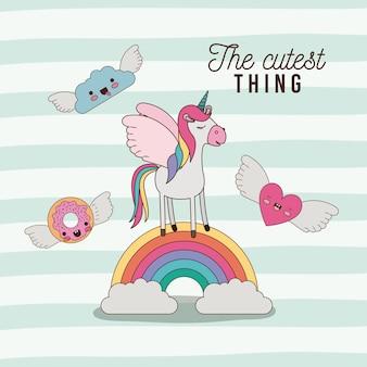 L'affiche de la chose la plus mignonne avec la licorne
