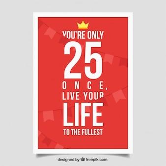 Affiche de citation de motivation rouge