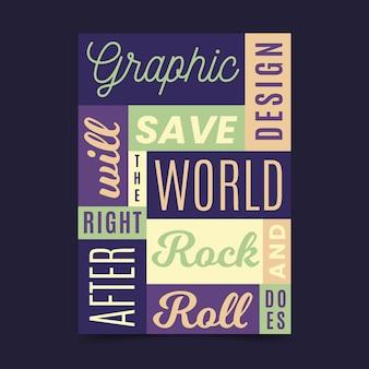 Affiche de citations de conception célèbre