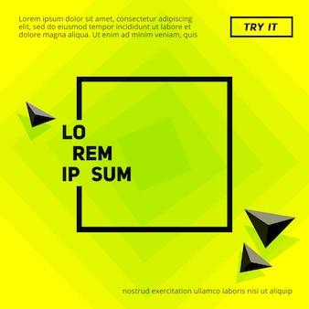 Affiche de citron minimal