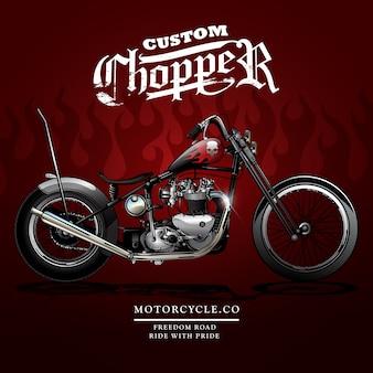 Affiche classique de moto de chopper