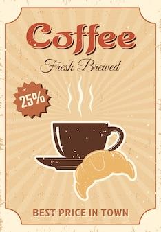 Affiche colorée de café