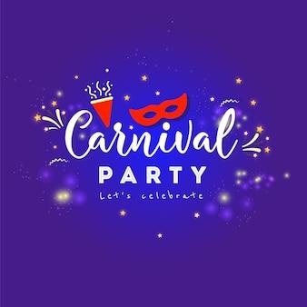 Affiche colorée de carnaval. illustration vectorielle
