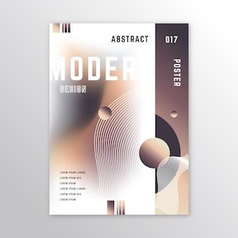 Affiche colorée de conception abstraite