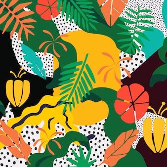 Affiche colorée de feuillage automnal