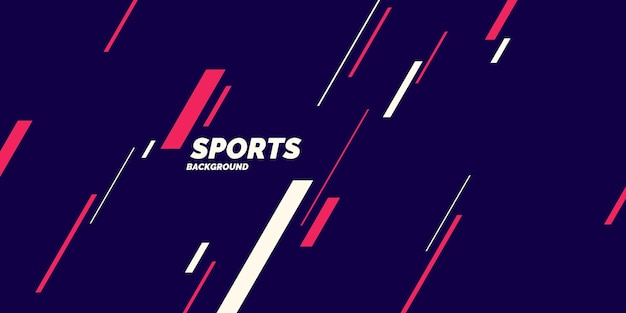 Affiche colorée moderne pour les graphiques vectoriels sportifs