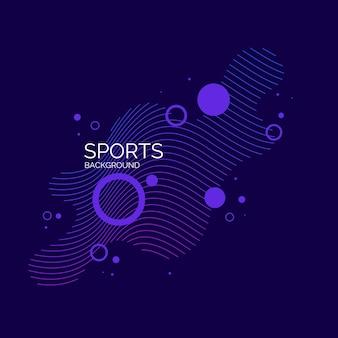 Affiche colorée moderne pour le sport. éléments abstraits vectoriels avec des vagues dynamiques.