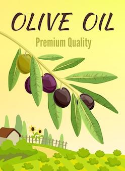 Affiche colorée olive
