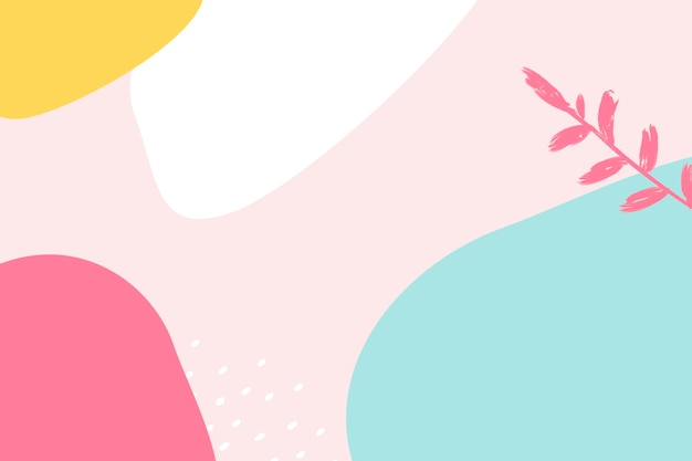 Affiche colorée de style memphis