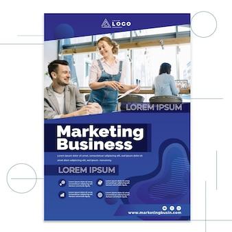Affiche commerciale de marketing