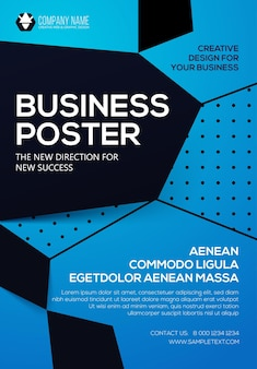 Affiche commerciale modèle de flyer présentation de la couverture