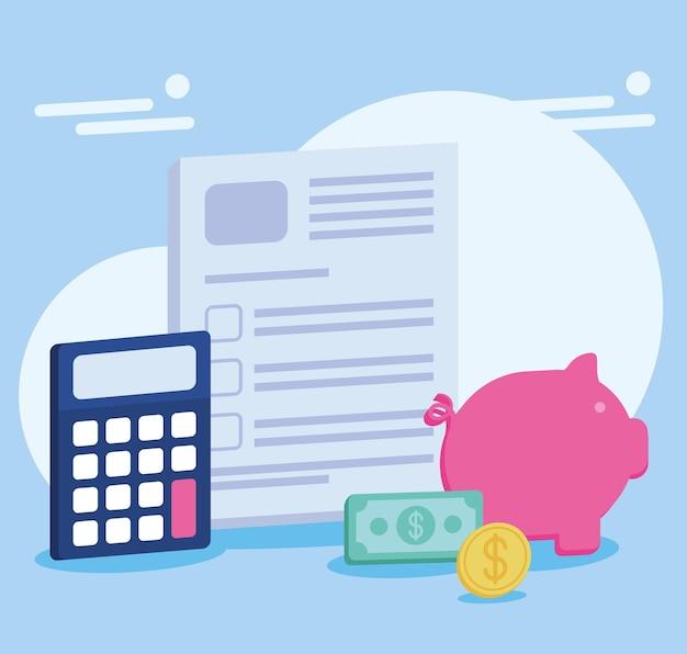 Affiche de comptabilité fiscale