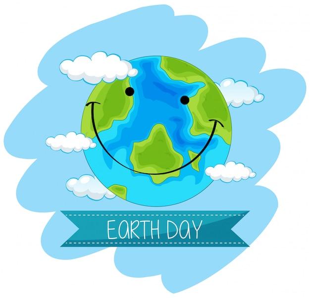 Affiche concept jour de la terre