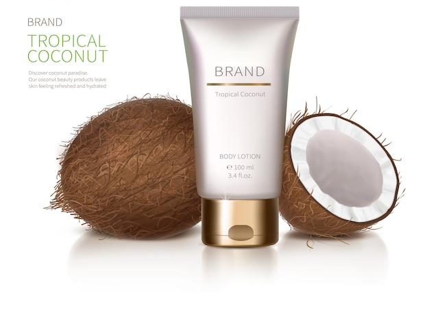 Affiche concept pour crème naturelle bio