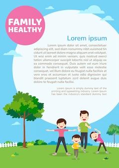 Affiche de concept de santé familiale