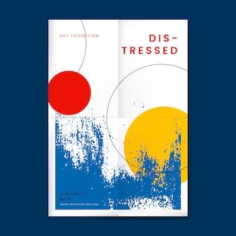 Affiche de conception en détresse abstraite