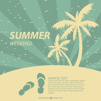 Affiche de conception d'été tropical
