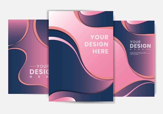 Affiche de conception de forme fluide