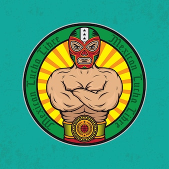 Affiche de conception lucha libre mexicaine
