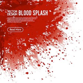Affiche de conception de page web de fond d'éclaboussure de sang