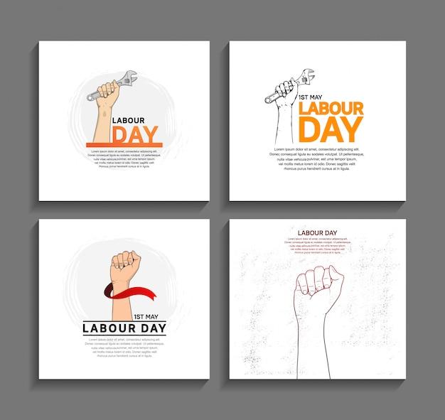 Affiche de conception de vecteur de la fête du travail