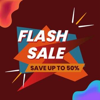 Affiche de conception de vente flash
