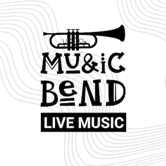 Affiche de concert de musique de concert de festival de jazz annonce la bannière rétro