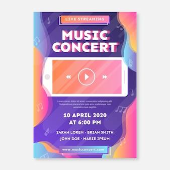 Affiche de concert de musique en direct