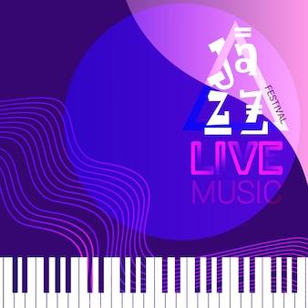 Affiche de concert de musique de festival de jazz