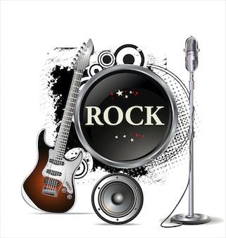 Affiche de concert rock