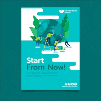 Affiche de conservation de l'environnement