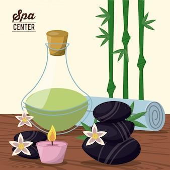Affiche couleur du centre de spa