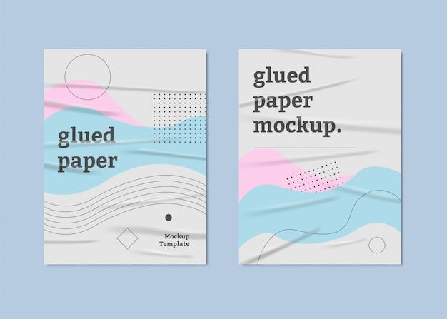 Affiche Couleur Pastel Sur Papier Collé Vecteur Premium