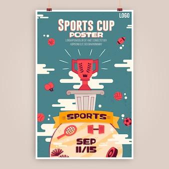 Affiche coupe sport rétro